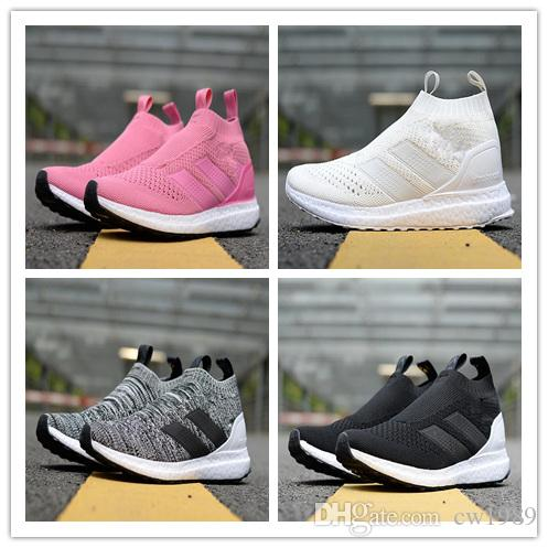 buy authentic online outlet footlocker finishline New 2018 Ace 16 Shoes Ultra Boost II Uncaged Casual Shoe Men Beckham Casual Shoes pink grey Athlect shoes size 36-45 tRewNu
