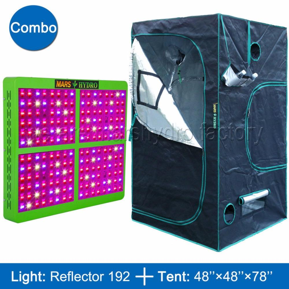 Mars Reflector 960W LED Grow Light Full Spectrum Veg Flower Hydro+120x120x200cm Indoor Grow Tent Kit For Indoor Plants Growing Led Indoor Grow Lights Grow ...  sc 1 st  DHgate.com : grow tent and light package - afamca.org