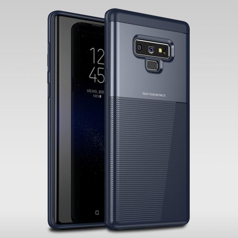 best service 5b751 2486e for Samsung Galaxy Note 9 case back cover Grid pattern silicone edge fabric  case coque for Samsung note9 cover note9 case