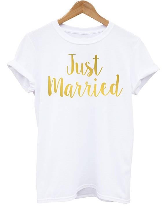 6a8cca246e Skuggnas Just Married T Shirts Personalised Wedding Date Shirt Hubby Wifey  Honeymoon T Shirt Women Men Top Gift High Quality Buy Funny T Shirts Online  Tee ...