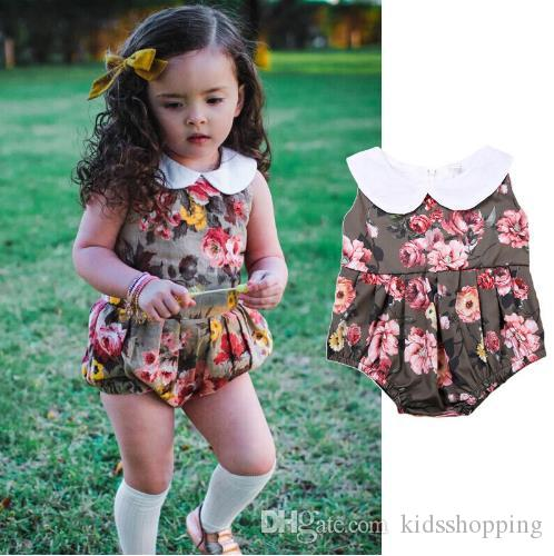 c96b009e8ede 2019 Summer 2018 Children Girl One Piece Jumpsuit Infant Toddler Baby Kids  Girls Cotton Romper Jumpsuit Body Suit Clothes Outfits From Kidsshopping