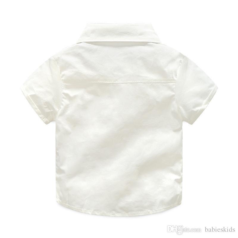 2020 Nouvelle Mode D'été Bébé Garçon Vêtements Gentleman T-shirt Salopette Coton Enfants Ensembles Enfants Vêtements Nouveau-Né Vêtements Ensembles