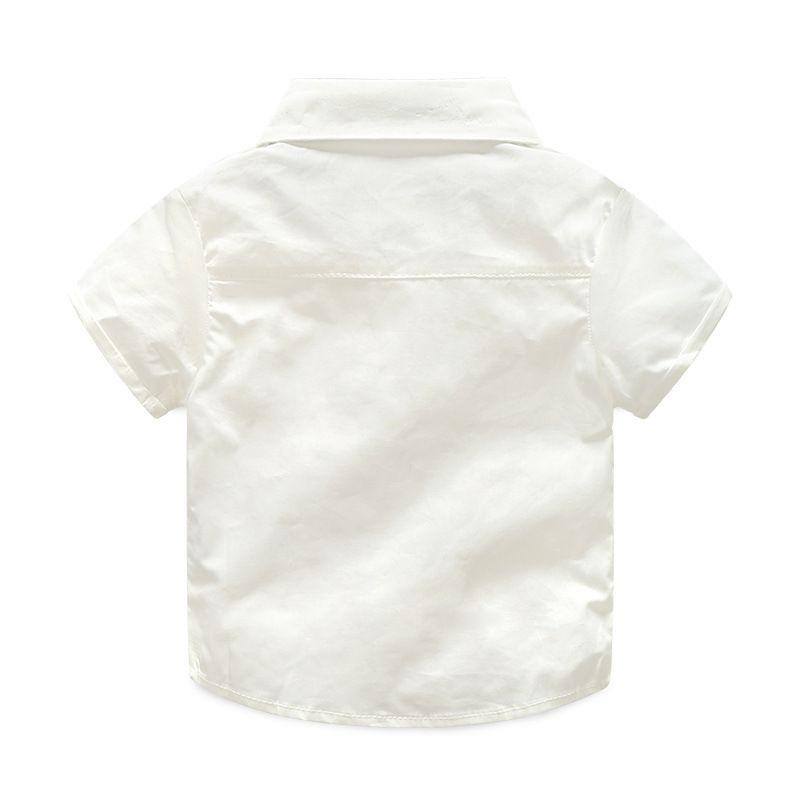Yeni 2018 Yaz Moda Erkek Bebek Giysileri Beyefendi T-shirt Tulumları Pamuk Çocuk Setleri Çocuk Giyim Yenidoğan Giyim Setleri 2 adet