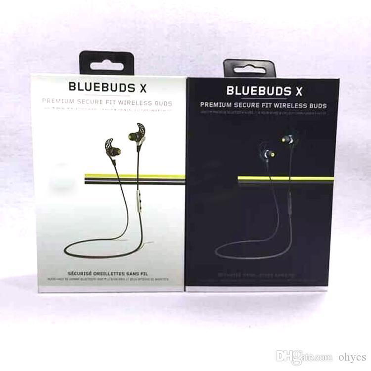 Écouteurs sans fil de sport Blue Buds X de Jay B, formation professionnelle, Bluetooth avec boîte de vente au détail Casque d'écoute ultra-léger Jay Bird par ohyes