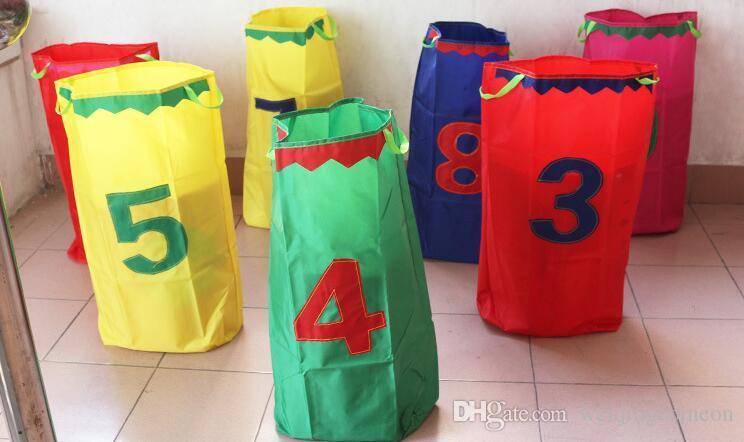 어린이 야외 게임 부모의 점프 가방 경주 키즈 감자 자루 감각 통합 균형 훈련 바깥 도어 활동 장난감