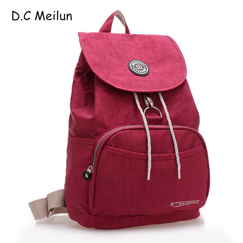 f88419f460a7 D.C Meilun Backpack Women Fashion Style Waterproof Nylon Backpack Lady Women S  Backpacks Female Casual Travel Bag Personalized Backpacks Hunting Backpacks  ...