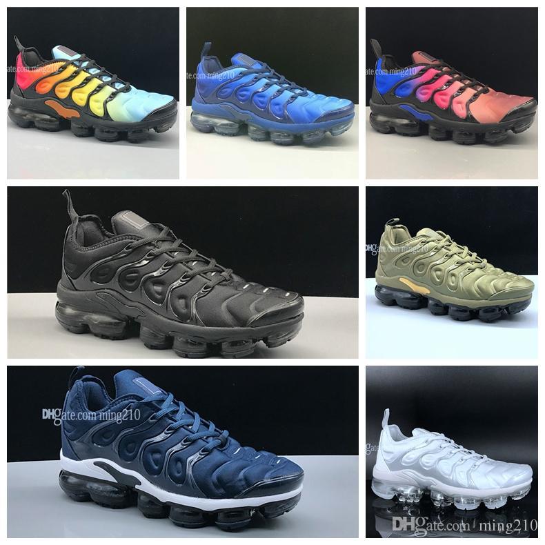 meilleures baskets c51e7 fbeeb Nike Air Max chaussures nike vapormax plus tn hommes chaussures de course  pour hommes classique en plein air tn noir blanc sport sneakers sport ...