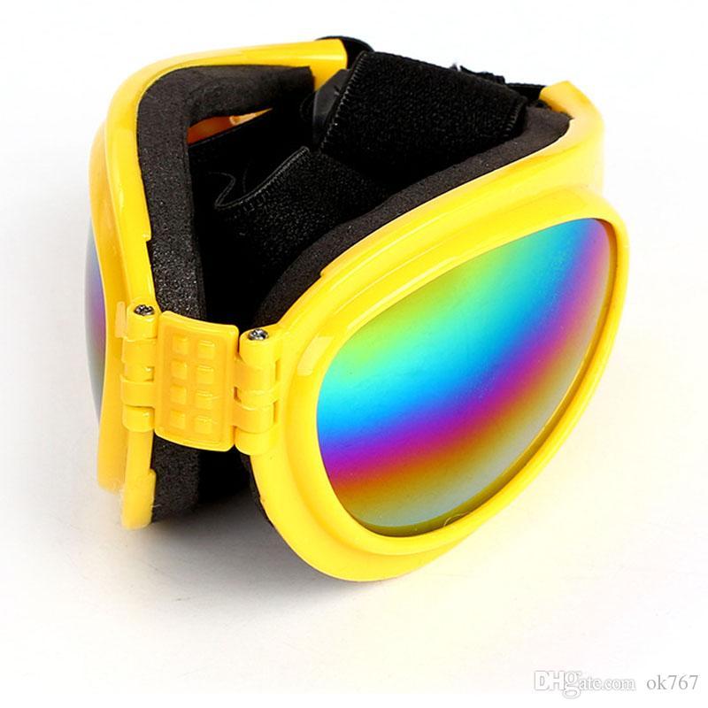 Gafas de sol plegables para perros Gafas de sol para perros pequeños y medianos Perros grandes Gafas de protección ocular UV Gafas Accesorios para acicalamiento