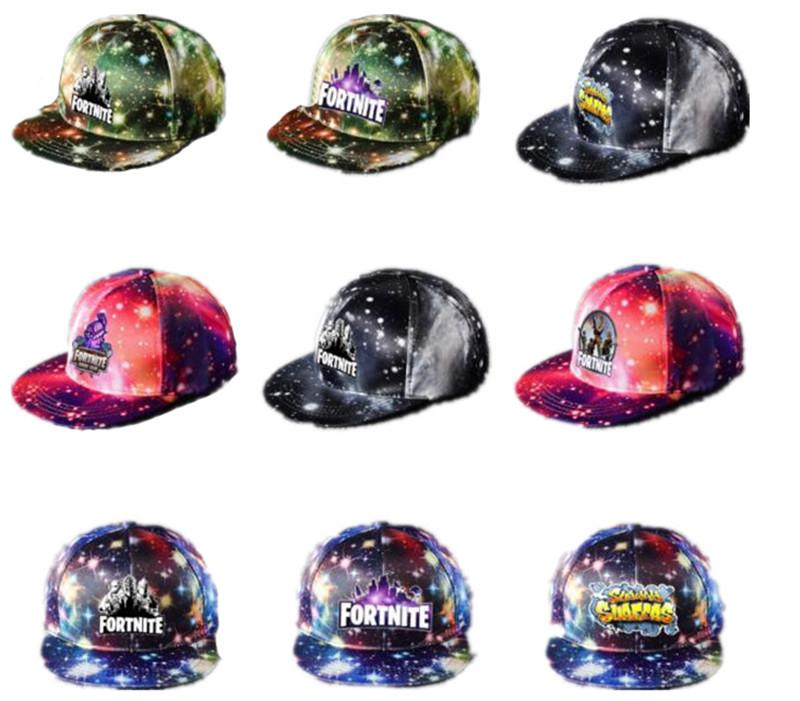 2019 Fortnite Game Baseball Cap Starry Sky Stars Snapback Hats Unisex  Casquette Game Character Visor Caps Boys Girls Sports Sunhat Hip Hop Cap  From ... 97e8daa00a9