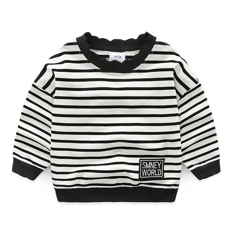 cce5f4721 Striped Boys Sweatshirts 2018 New Spring Autumn Children Clothing ...