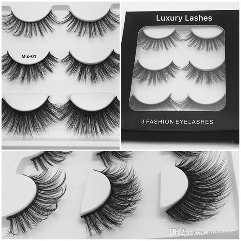 211b3f49a72 3 Styles Mixed 3D Mink Eyelashes Multiple False Eyelash Fake Eyelashes  Natural Long Thick Eyelash Extension Handmade Eye Lashes Xxl Lashes Eyelash  Glue From ...