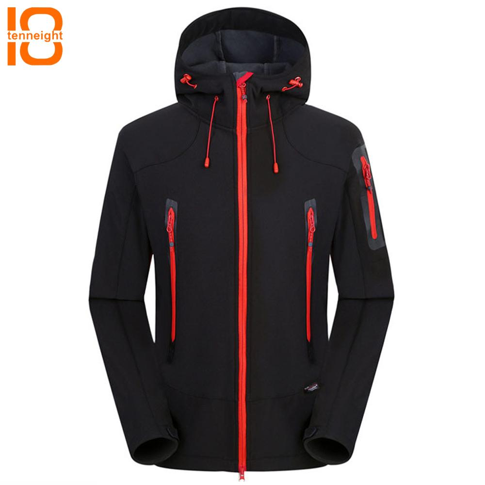 2f01115428e60 2019 TENNEIGHT Softshell Jacket Women Climbing Rain Windbreaker Men  Windproof SoftShell Fleece Jackets Outdoor Coat Ski Hiking Jacket From  Hongmihoutao
