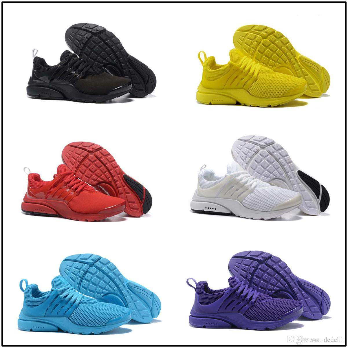 new concept e4a1e b4590 Acquista 2018 TOP Nike Air Presto 5 BR QS Breathe Nero Bianco Giallo Rosso  Scarpe Da Uomo Sneakers Da Donna Scarpe Da Corsa Hot Men Scarpe Sportive Da  ...