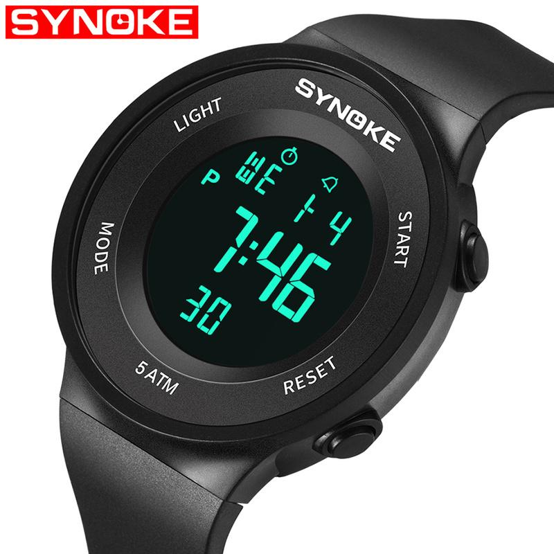 SYNOKE Luxury Brand Unisex Sport Wristwatches Finess Men Waterproof Sport LED Digital Wrist Watches Military Clock Relogio Masculino 9199