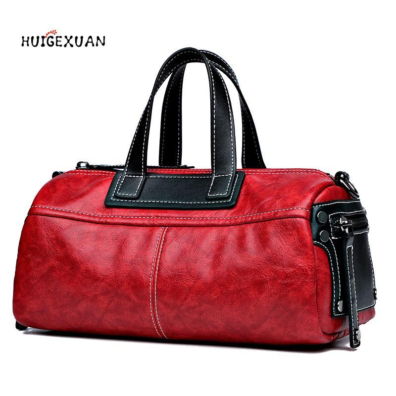 31ec43d516 New PU Leather Handbag Famous Designer Boston Bags Top Handle Pillow Shoulder  Bag Long Tote Bag For Women 2018 Messenger Bags Crossbody Purse Travel Bags  ...