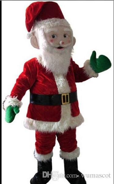 ebc123c987641 Acheter PROFESSIONNEL ORIGINAL Noël Père Hommes Cadeau Costume De Mascotte  FURSUIT Halloween Noël Anniversaire Prop Fursuit