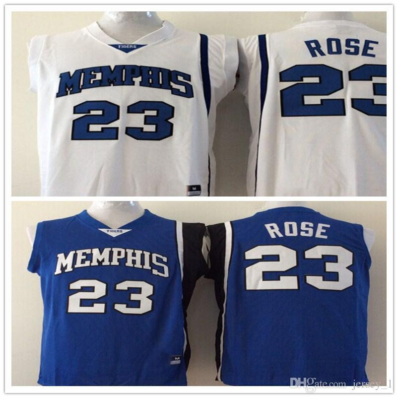 4acfee2f ... customize 23 derrick rose mens college football jerseys white blue  memphis tigers men jersey size s