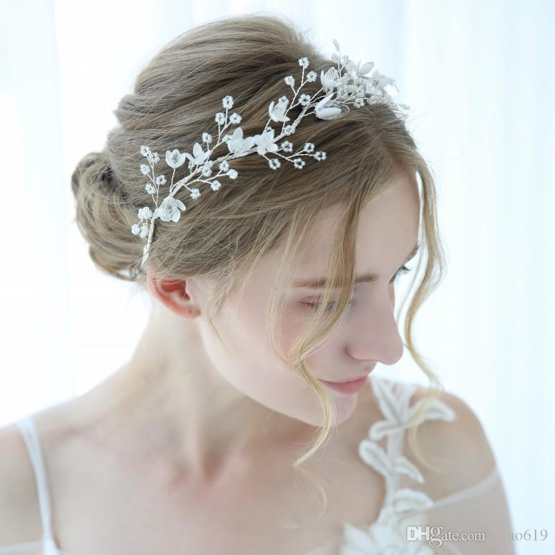 2019 Charming Tiny Beaded Headband Tiara For Bride Crystal Wedding Hair  Crown Accessories Bridal Headpiece Jewelry Bridal Hair Accessories  Singapore Bridal ... b3a237dcb56