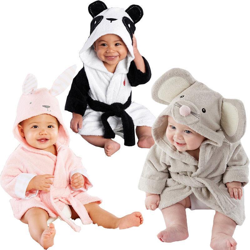 6f6bfcac76 Baby Infant Girl Boy Cotton Hooded Bath Towel Wrap Bathrobe Cute Cartoon  Mouse Panda Bunny Design 1 5Y Girls Christmas Pjs Girls Silk Pajamas From  Localking ...