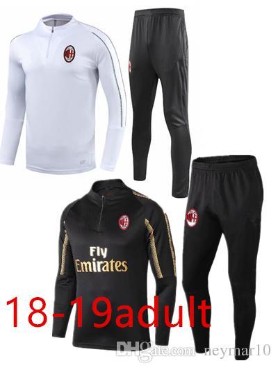 0ae2729b2b1 2019 2018 2019 AC Milan Tracksuit Survetement Jacket Set HIGUAIN CALHANOGLU  Full Zipper Football Jacket Sportswear Set Tracksuit From Neymar10