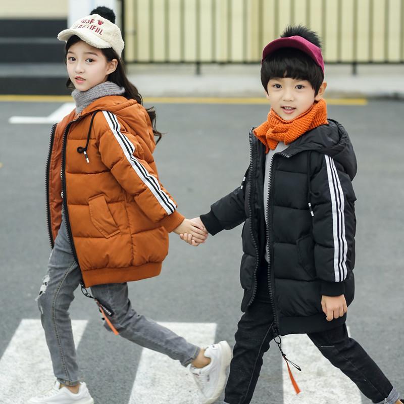 5aedade7a 2018 New Boys Winter Long Down Jackets Outerwear Coats Fashion Kids ...