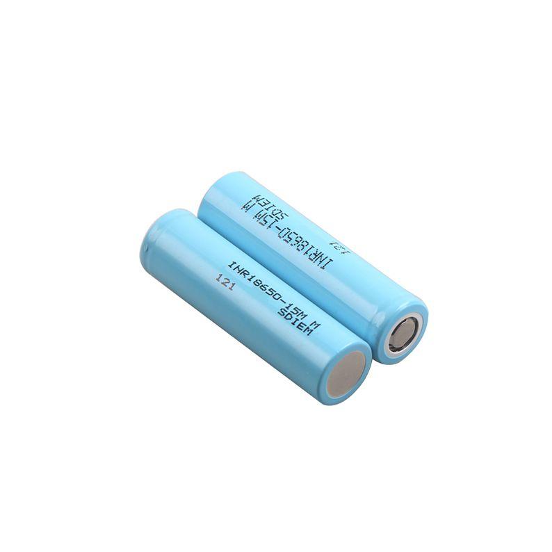 INR18650 15MM بطارية ليثيوم أيون 3.7v 1500mah 23A المستمر التفريغ البطاريات القابلة لإعادة الشحن جيدة لسامسونج