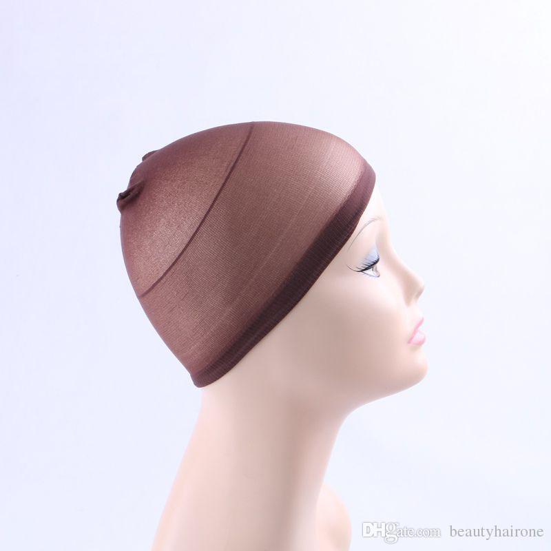 Wig Cap Stretchable Elastic Hair Net Nylon Silk Stockings Mesh for Making Wig Weaving Black Brown Beige 12Packet/packet