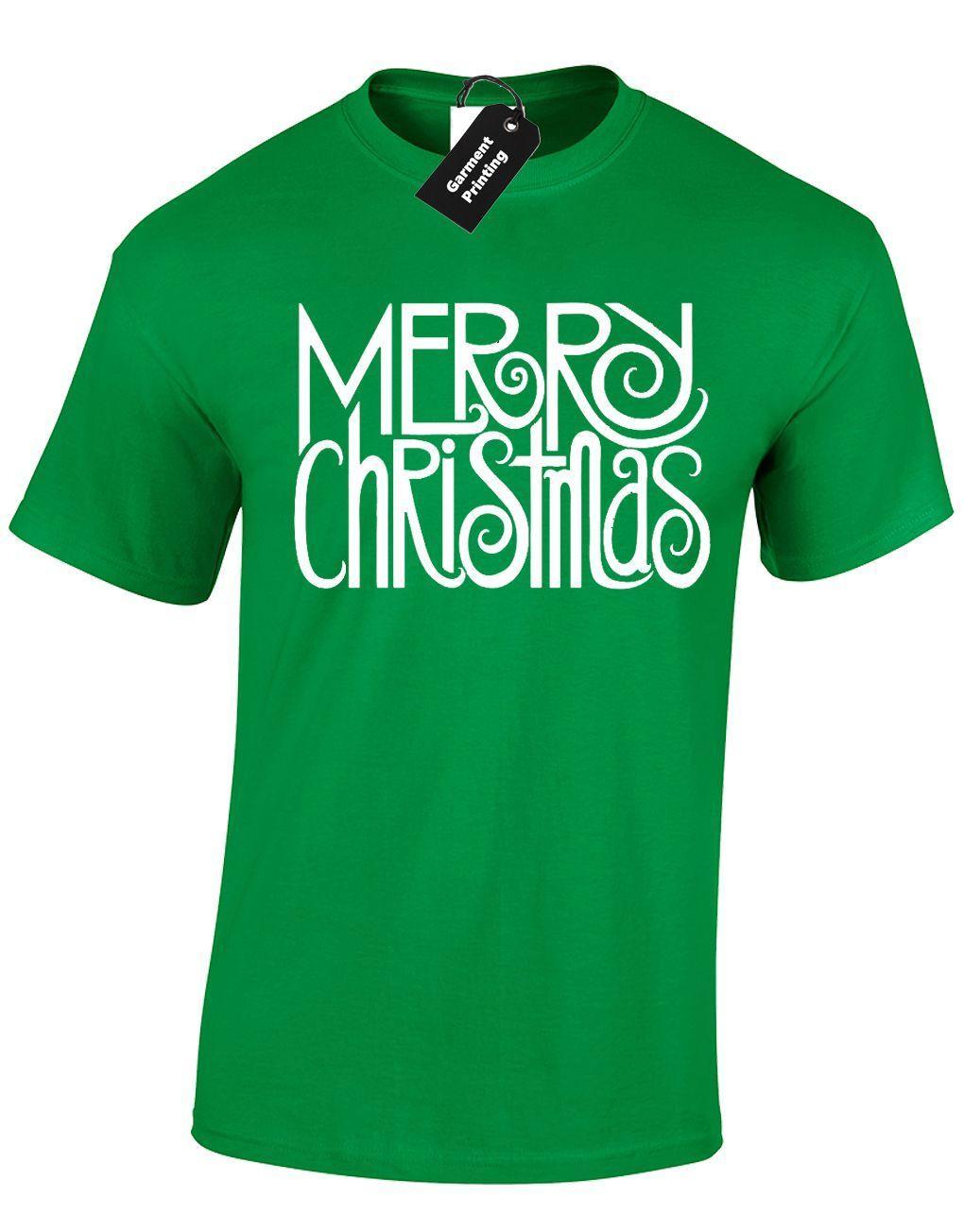Merry Christmas Design Mens T Shirt Cool Festive Xmas Jumper Santa