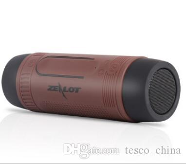 New Portable Wireless Waterproof Bluetooth Speaker with Power bank And Flashlight Multifunctional Sport Speaker Zealot S1 VS Pulse Speaker
