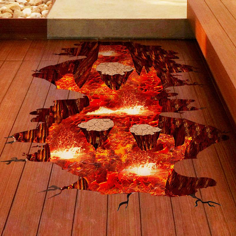 Magma 3D Wall Sticker Home Decor Living Room Bedroom Floor Decoration  Removable Vinyl Material Decorative Art High Quality Decoration A China 3d  Wall ...