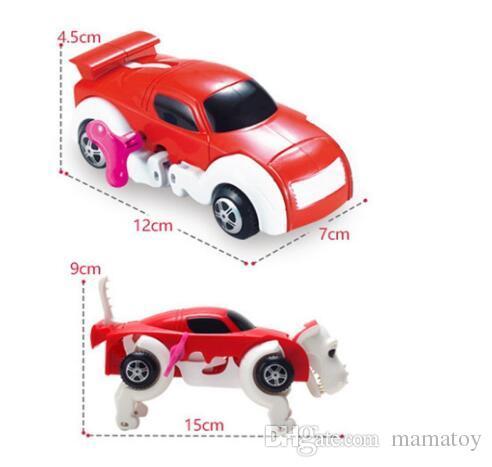 Dog Toy Transform Car Toy Creative Vehicles Clockwork Wind up Toys Girls and Boys Preschool Kids Gift