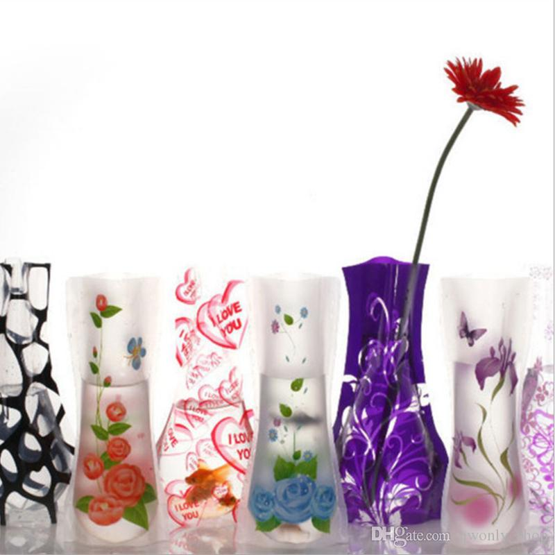 1227cm Creative Clear Eco Friendly Foldable Folding Flower Pvc Vase
