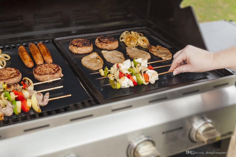 Silikon mat Barbekü Aracı Aksesuarları Pişirme Fırında Mat Fırın Astar Kullanımlık Yapışmaz BARBEKÜ Izgara Paspaslar 16C