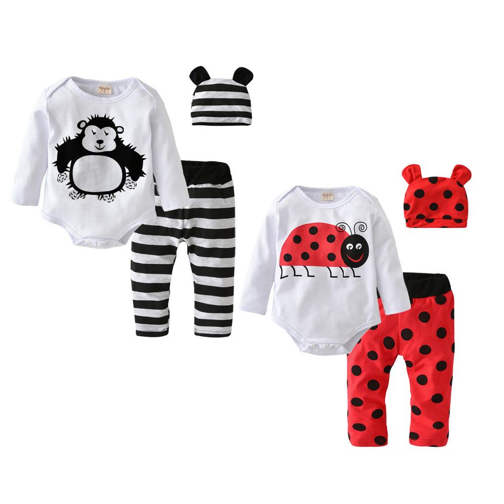 0eebcedba 2019 2018 Hot Sale Baby Boys Girls Clothes Long Sleeve Cartoon ...