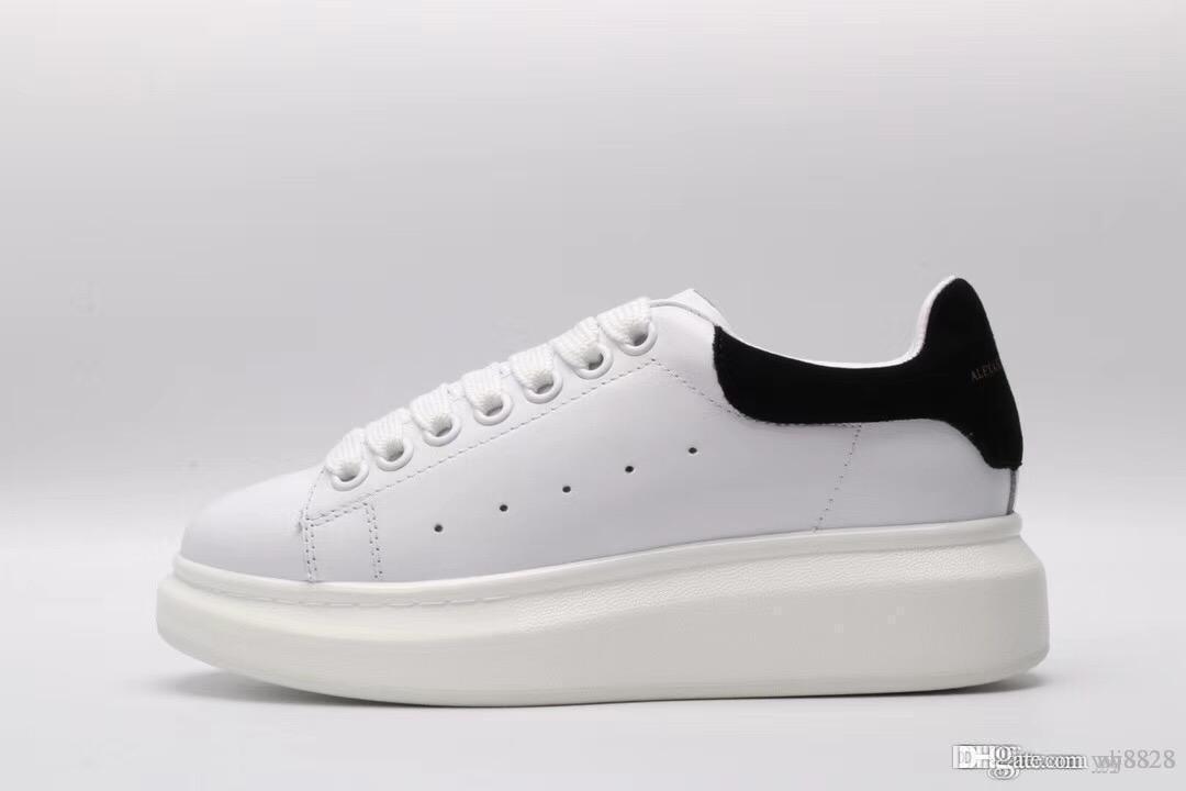 hot sale online bcac6 04700 Kleine weiße Schuhe mit bunten 2018 neuen Sohlen, weiche und modische  klassische weiße Schuhe, pinförmige Beine, lange Beine 35-45