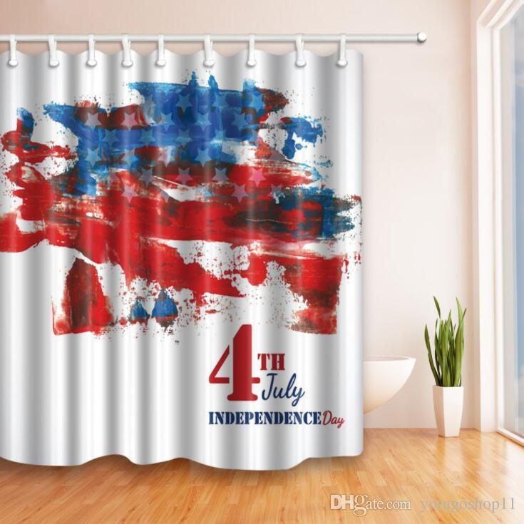 Tenda impermeabile tenda doccia doccia calda doccia, design creativo di  elementi americani, bandiera stile europeo e americano e altri nuovi