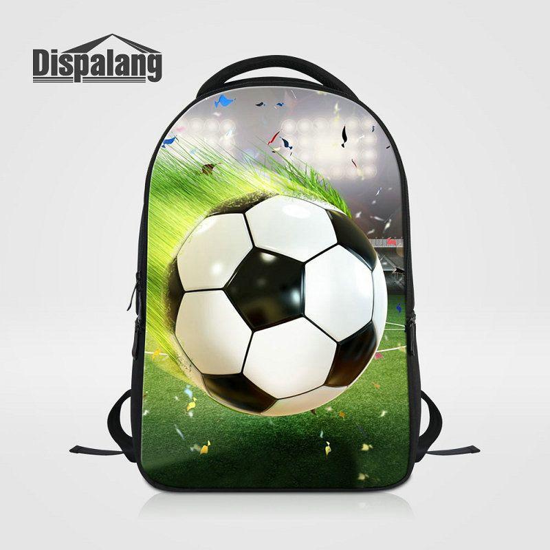 Compre Multifunción Hombres 14 Pulgadas Laotop Mochilas Para Adolescentes Cool  3D Futbol Impresión Bolsas Escolares Fútbol Niños Moda Mochila Basketball  ... 6db72151609a7