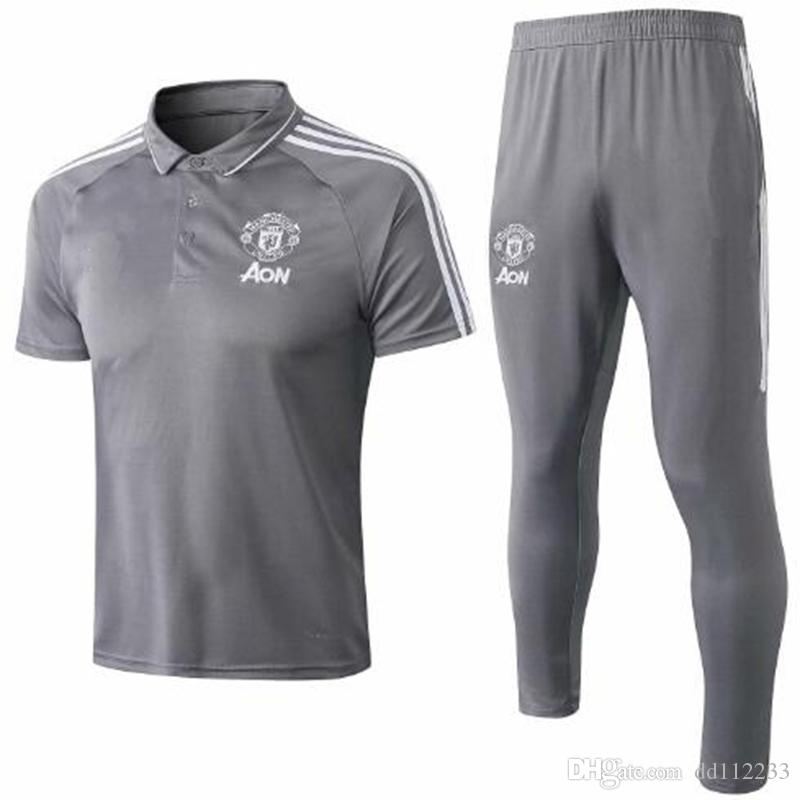bd13e26f0 Top Quality 2018 2019 New Soccer Training Suit Short Sleeve POLO 18 ...
