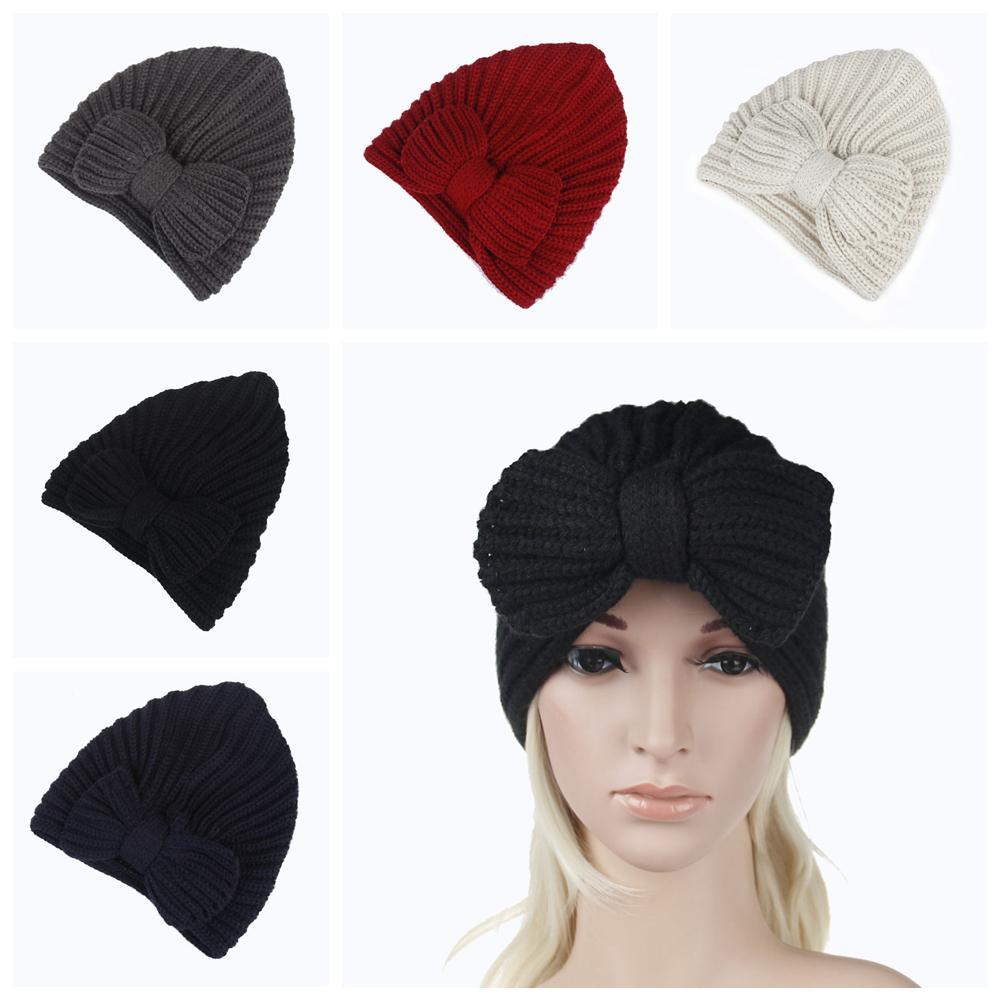 0dea2f1b870 5styles Women Earmuffs Knitted Bowknot Hat Lady Hats Crochets Knitting  Beanie Hats Outdoor Sports Party Skull Caps FFA754 Beanie Caps Slouchy  Beanie Crochet ...