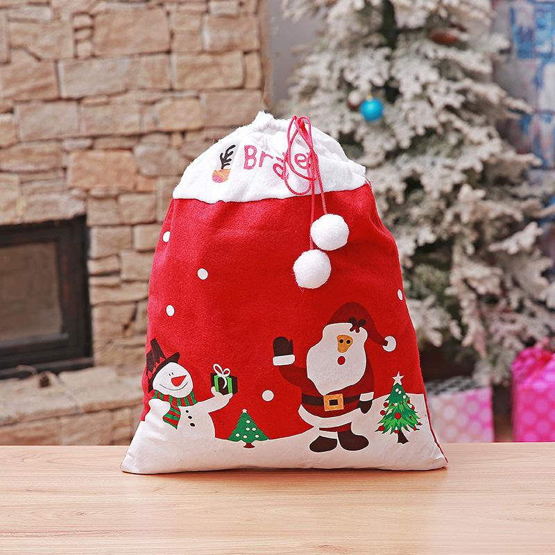 2018 Santa Claus Christmas Gift Bags Kids New Year Banquet Present ...