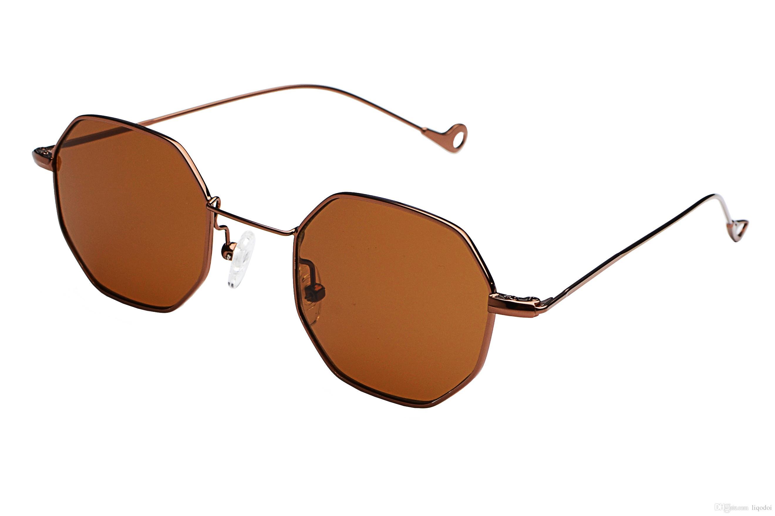 4190f60083bd4 Compre Quadrado Óculos De Sol De Metal Octagon Homens Mulheres Moda Óculos  De Sol Marca Designer Retro Óculos Vintage Shades Atacado De Liqodoi, ...