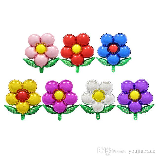 5850CM Flowers Aluminum Balloons Birthday Party Wholesale Childrens Toys Baby Shower Activity Supplies Flower