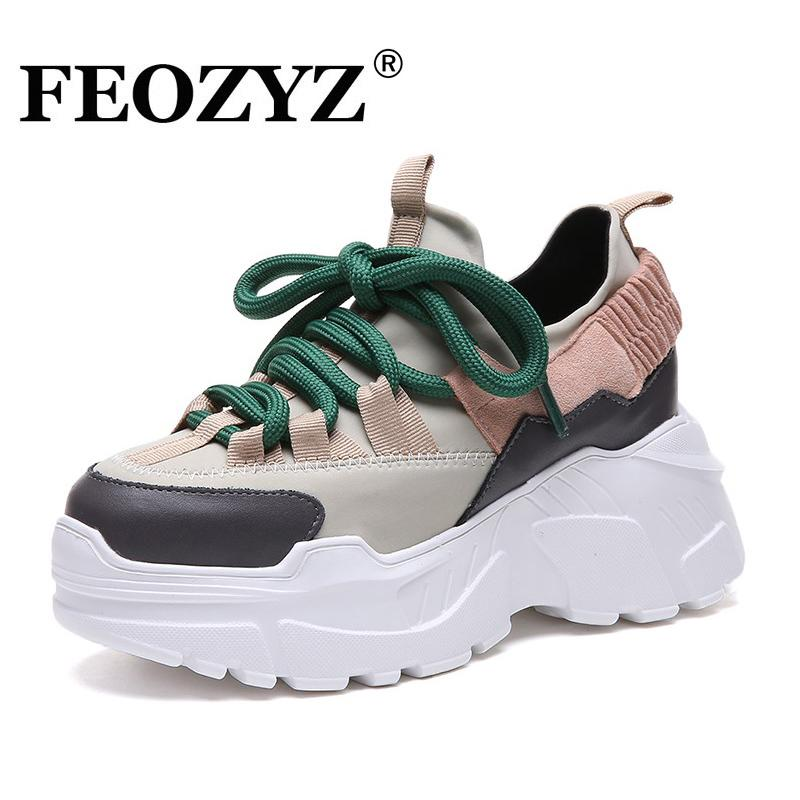 479807c34bb 2019 ADBOOV New Platform Sneakers Women Thick Sole Running Shoes Height  Increasing 8 CM Chunky Shoes Woman Chaussures Femme From Superfeel