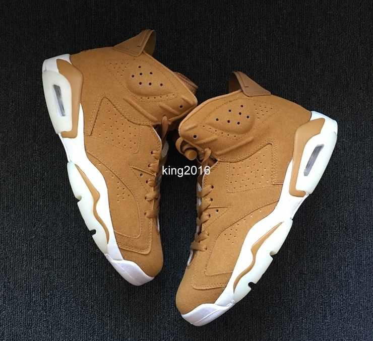 2018 Nuevo 6 VI Golden Harvest Wheat Basketball Shoes For Men, 6s Sports Mens Basket Ball Sneakers Zapatillas de deporte Tamaño del zapato 36-47