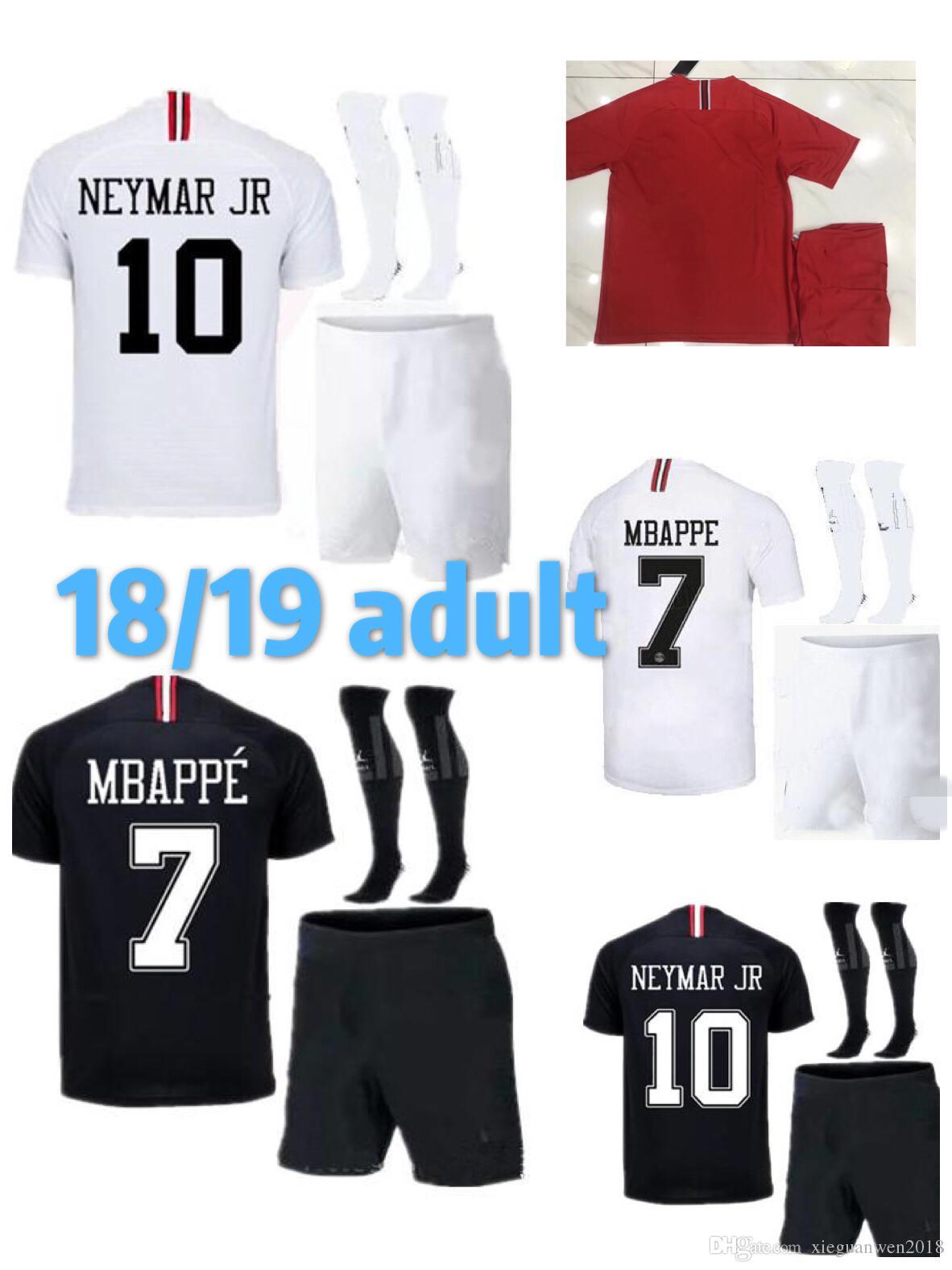 Adult 2018 2019 Psg Jersey 18 19 AJ Paris MBAPPE CAVANI Youth ... 8eba4c98c