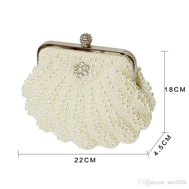 Beautiful Women Crystal Evening Clutch Bag Rhinestone Wedding Purse Party  Handbag Lady Clutches Diamond Pearl Beads Female Chains Bag Leather Purse  Gold ... 927b5479aff9