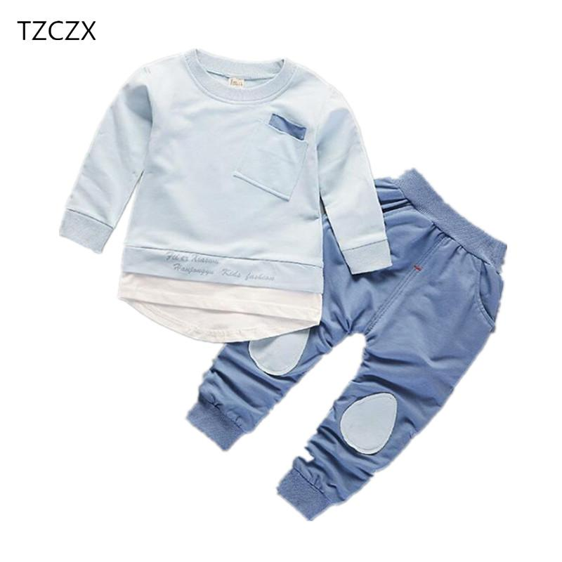 48e43a8a221d 2019 TZCZX New Spring Children Baby Boys Girls Sets Active Fashion Suit For 9  Month To 4 Years Old Kids Wear Clothes From Sophine14