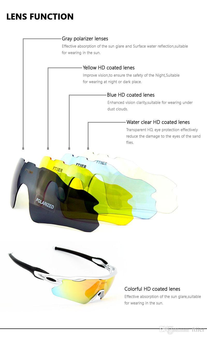 5 Linsen Polarisierte Radfahren Brille Männer Frauen UV400 Sonnenbrille MTB Fahrrad Reiten Mountainbike Glas EV Evzero TR90