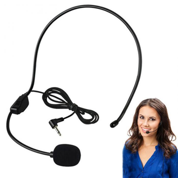 Portátil 3.5 MM Microfone Com Fio Fone de Ouvido Estúdio Guia de Conferência Discurso Speaker Stand Fone De Ouvido Para Amplificador de Voz XXM