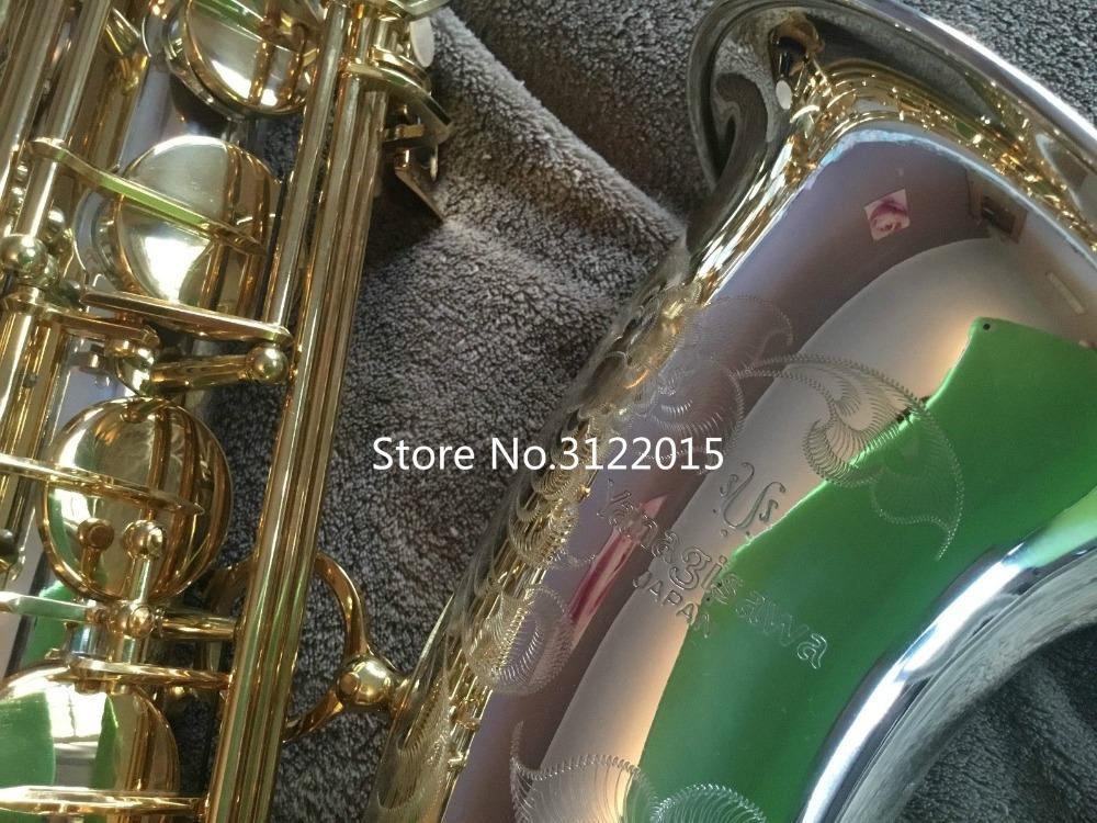 Qualità professionale YANAGISAWA T-9937 Tenore Sib sassofono superficie argentata oro chiave B Sax piatta con bocchino Ance Accessori